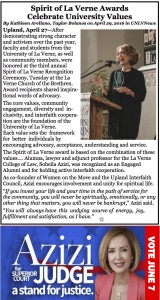 Soheila Azizi, The Spirit of La Verne!