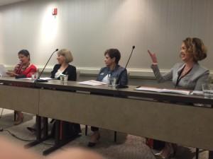 At IWAF with Co-Panelists Ms. Farah Majidzadeh, Ms. PariSima Hassani, and Moderator Ms. Katy Goshtasbi