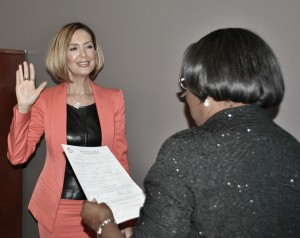 Soheila Azizi Being Sworn In